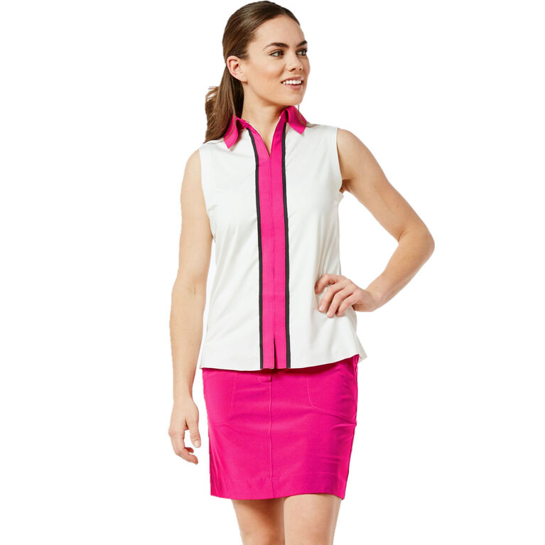 Thornewood Group: Sleeveless Piped Contrast Top
