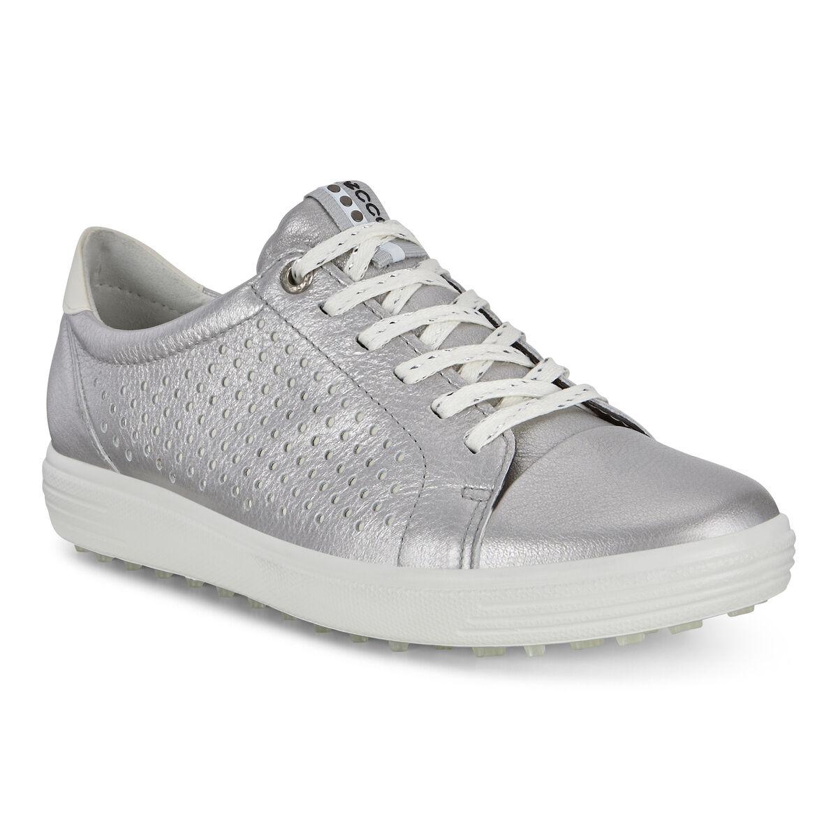 75be2958d4 ECCO Casual Hybrid Perf Women's Golf Shoe - Silver