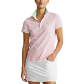 Alternate View 3 of Printed Collar Short Sleeve Tailored Golf Polo