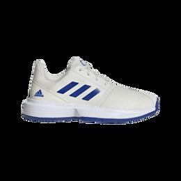 ADIWEAR™ 6 CourtJam XJ Junior's Tennis Shoe - Off White/Royal Blue