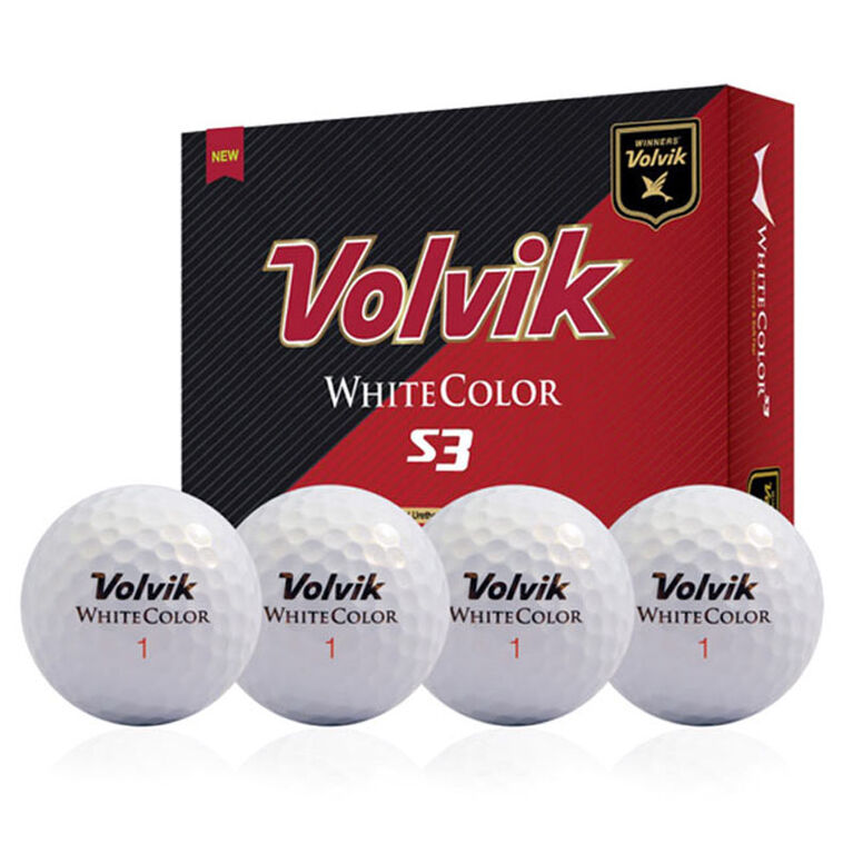 Volvik S3 White Golf Balls - Personalized