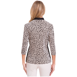 Blah Blah Blah Collection: Long Sleeve Dalmation Print Crunch Polo