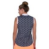 Alternate View 6 of Paris Collection: Daisy Print Sleeveless Rib Mock Shirt