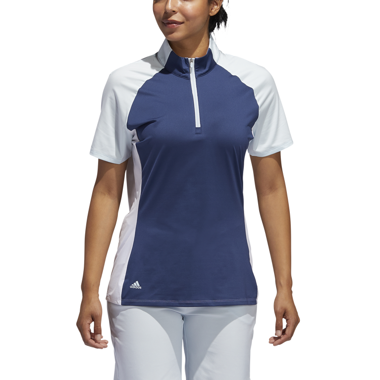 Short Sleeve Color Block Polo Shirt