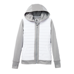 Full Zip Women's Quilted Fleece Hoodie