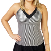 Alternate View 1 of Ruffles & Stripes Collection: Striped Halter Tank Top