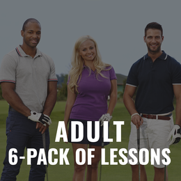 Adult Golf Lesson 6-Pack Gift Certificate