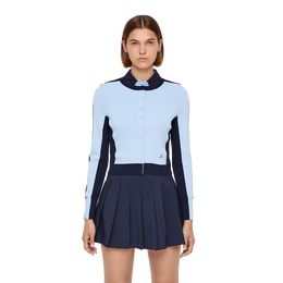 Long Sleeve Melody Stripe Sleeve Cardigan Front Cut