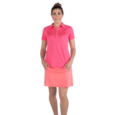 Alternate View 4 of Pink Lady Collection: Short Sleeve Striped Raglan Golf Polo