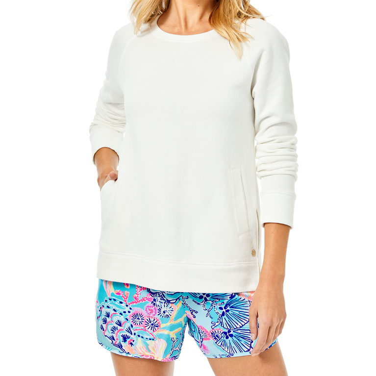 Beach Comber Resort White Luxetic Pullover