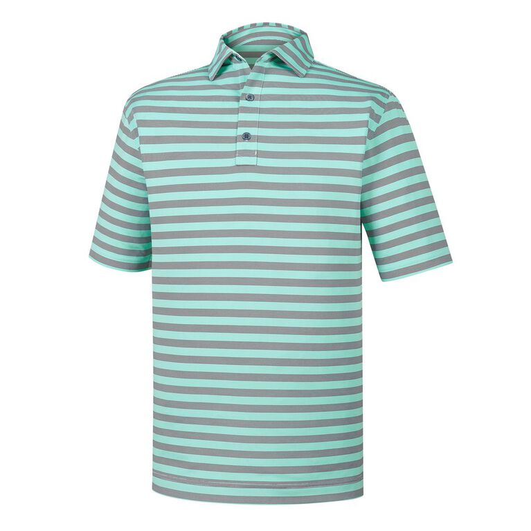 Athletic Fit End On End Multi Stripe Self Collar Polo