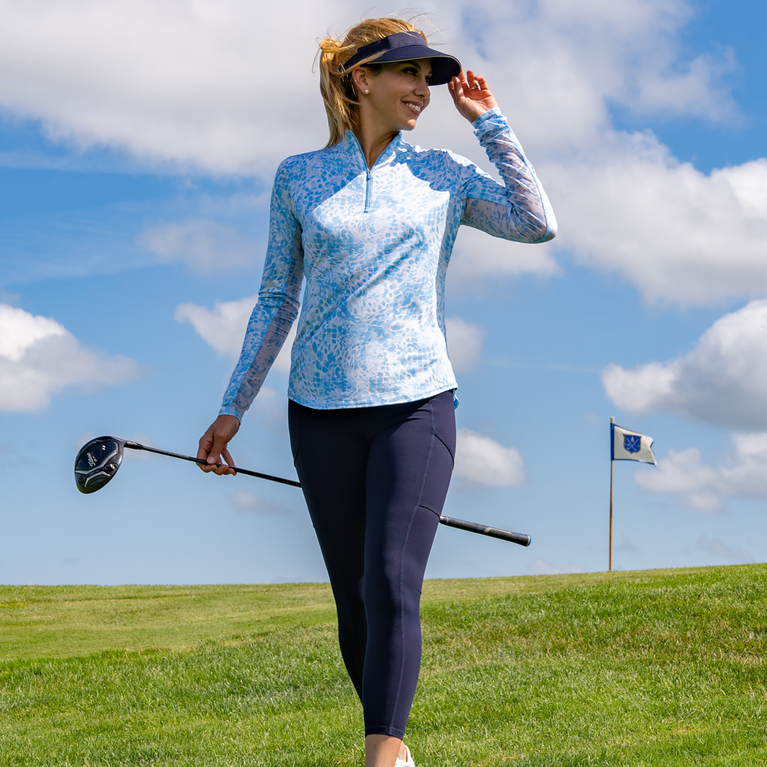 Limonata Collection: Mosaic Long Sleeve Quarter Zip Pull Over
