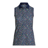 Alternate View 4 of Airflow Floral Sleeveless Golf Polo Shirt