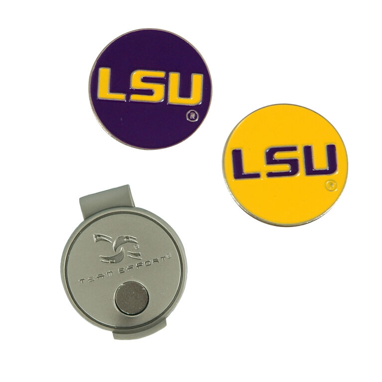 Team Effort LSU Tigers  Hat Clip