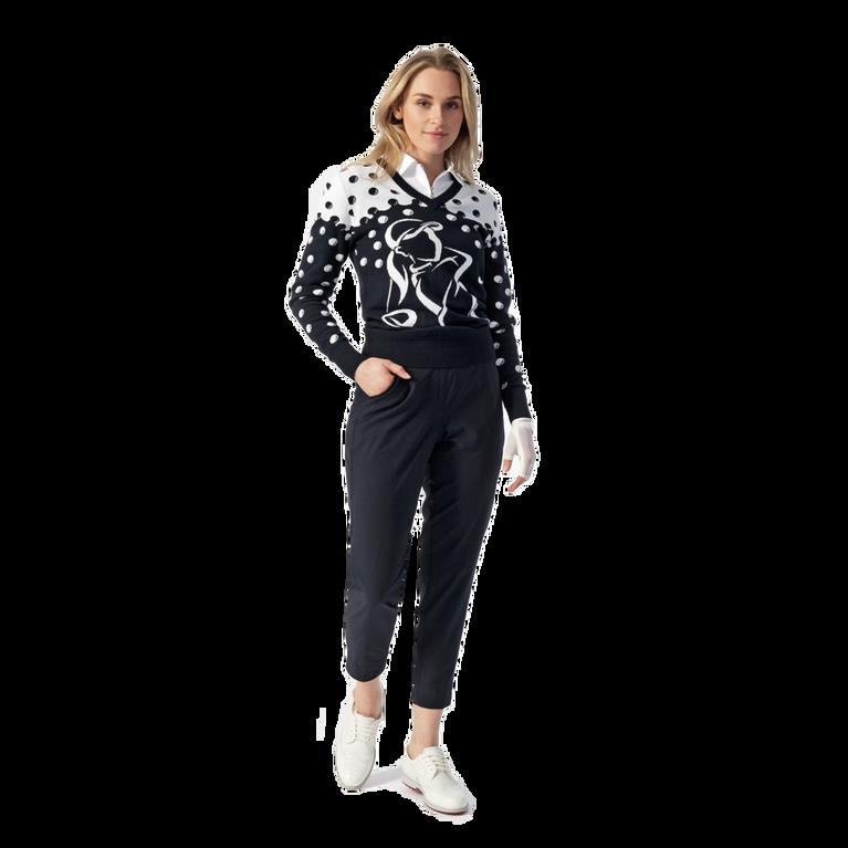 Aim Golf Motif V-neck Sweater