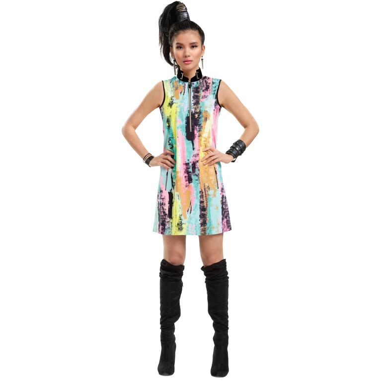 Venus Collection: Sleeveless Turtleneck Dress