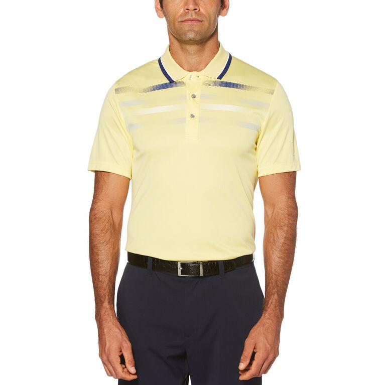 Fusion Chest Stripe Short Sleeve Polo Golf Shirt