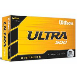 Wilson ULTRA 500 15 Ball Pack-Distance Golf Balls