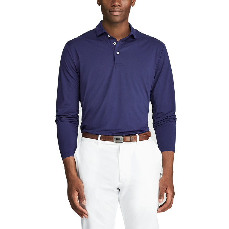 Classic Fit Long-Sleeve Polo Shirt