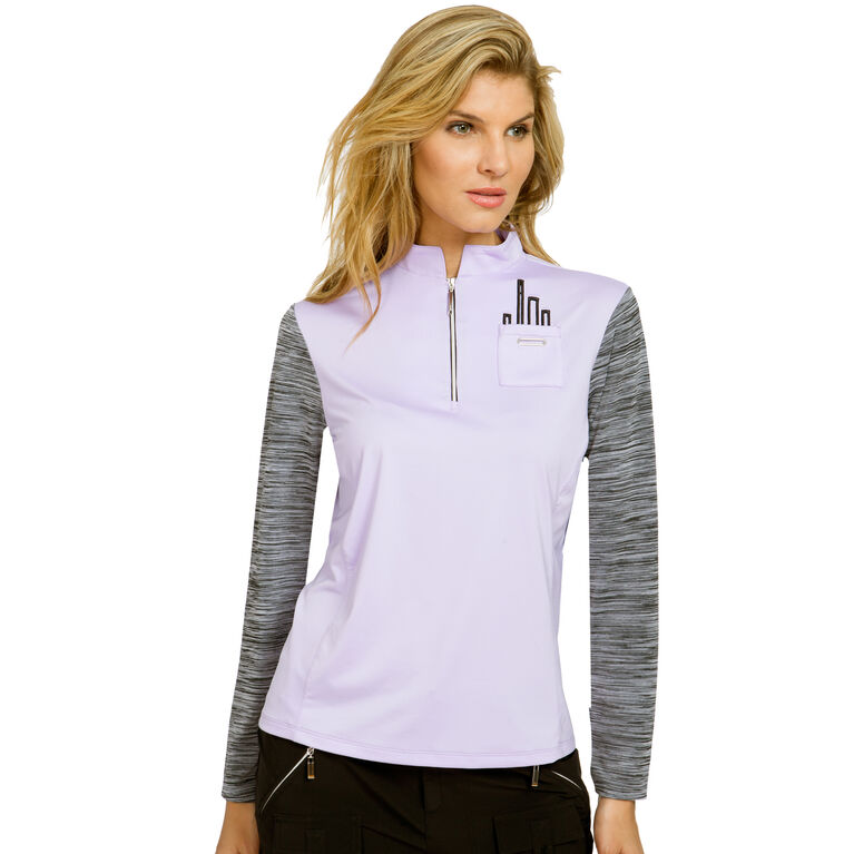 JELLY Group: Long Sleeve Space Dye Quarter Zip Polo