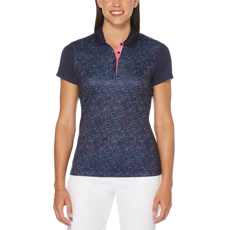 Rose Group: Women's Roadmap Camo Print Short Sleeve Polo Golf Shirt