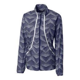 Long Sleeve Cloud Breaker Print Full Zip Jacket