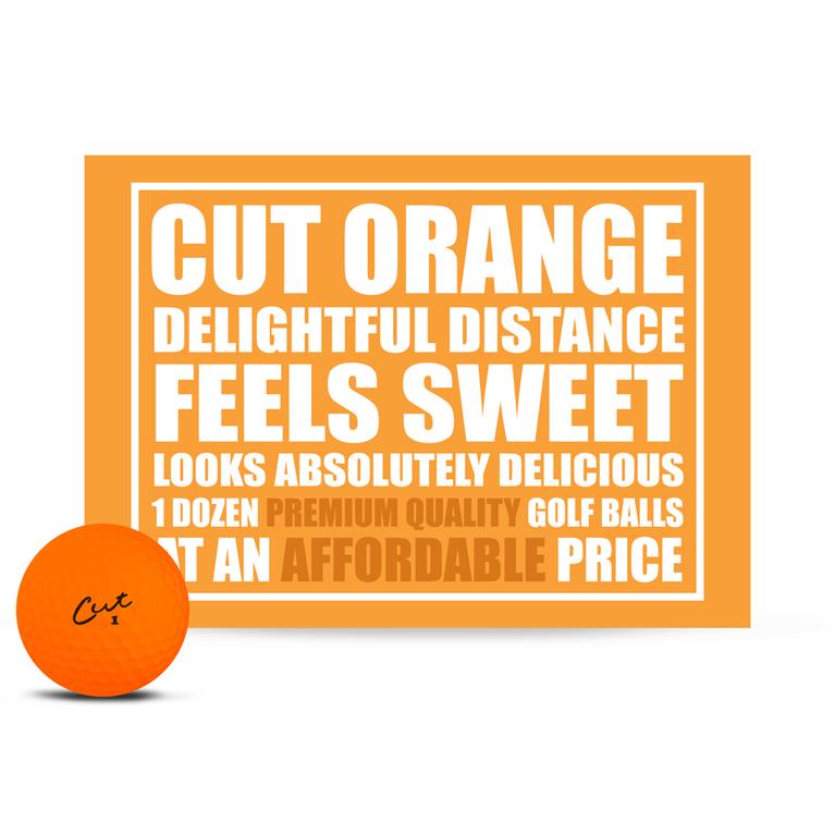 Cut Matte Orange Golf Balls