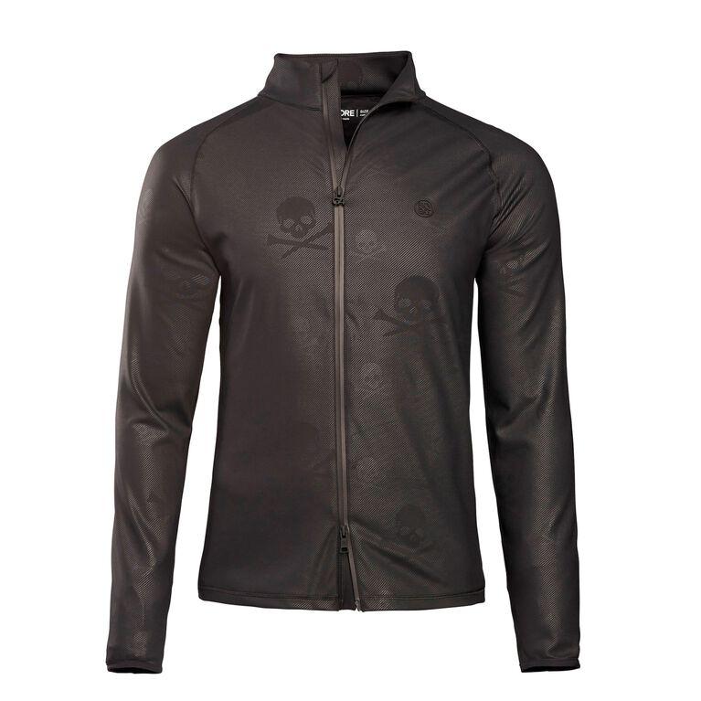 Skull & T's Embossed Full Zip Jacket