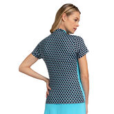 Into Blues - Baxley Convergence Print Top