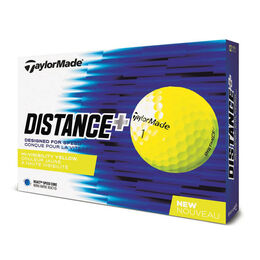 TaylorMade Distance+ Yellow Golf Balls
