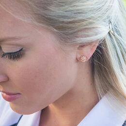 Rose Gold Golf Ball Earrings