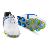 FooJoy Tour-S Men's Golf Shoe - White/Blue
