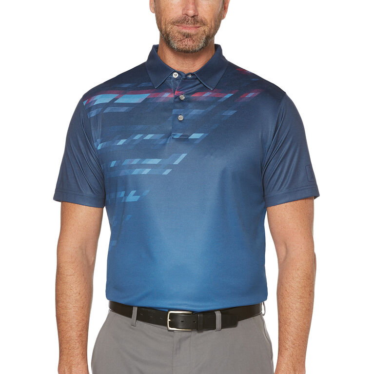 PGA TOUR Short Sleeve A-Symetrical Mosaic Energy Printed Polo