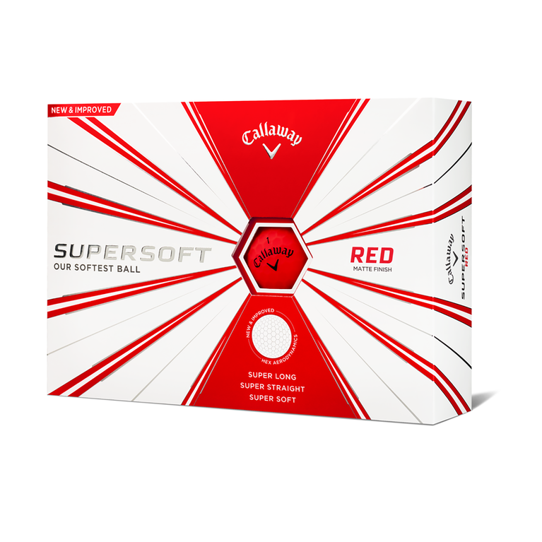Supersoft Matte Red Golf Balls - Personalized