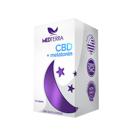 CBD + Melatonin Dissolvable Sleep Tablets