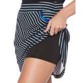 Alternate View 1 of PGA TOUR Black and Blues Collection: Stripe Flounce Golf Skort