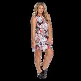 Summer Sensation Collection: Robbie Leaf Print Pleated Hem Dress