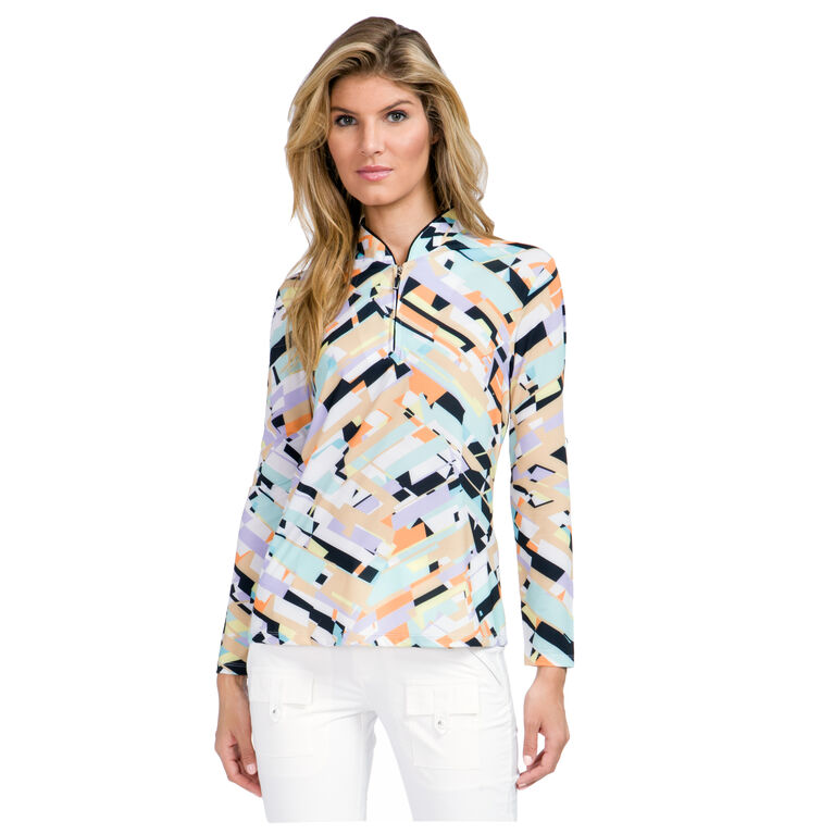 Sunsense - Print Shattered Quarter Zip