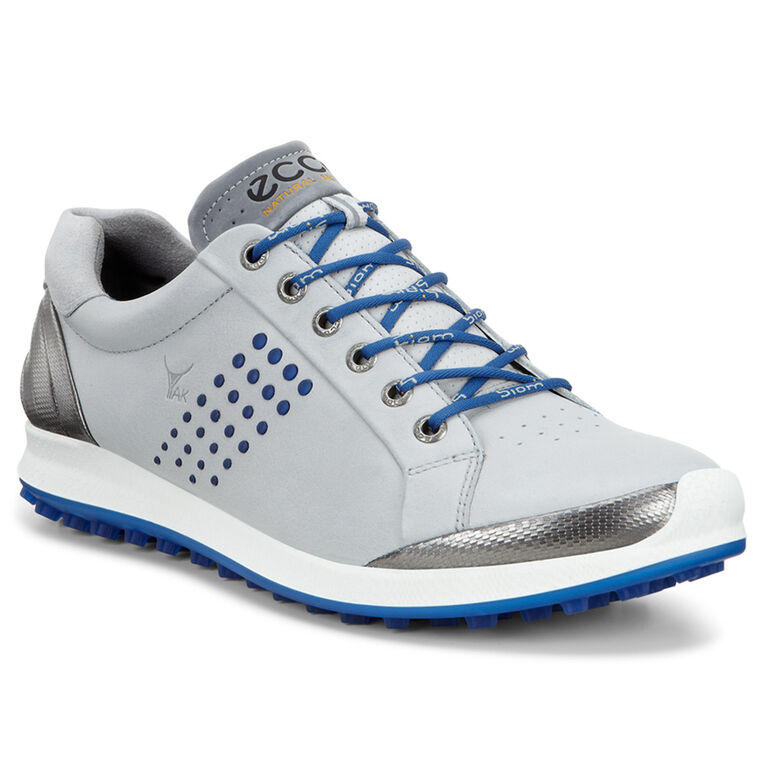 ECCO BIOM Hybrid 2 Men's Golf Shoe - Grey/Blue