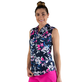 Alternate View 1 of Rojito Collection: Floral Sleeveless Polo Shirt