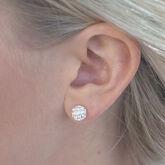 Alternate View 2 of Silver Golf Ball Earrings