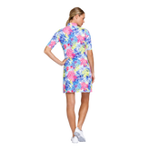 Alternate View 3 of Fun in the Sun Collection: Zaya Printed Palm Elbow Sleeve Dress