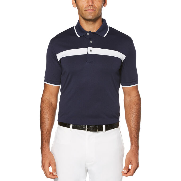 PGA TOUR Color Block Short Sleeve Polo