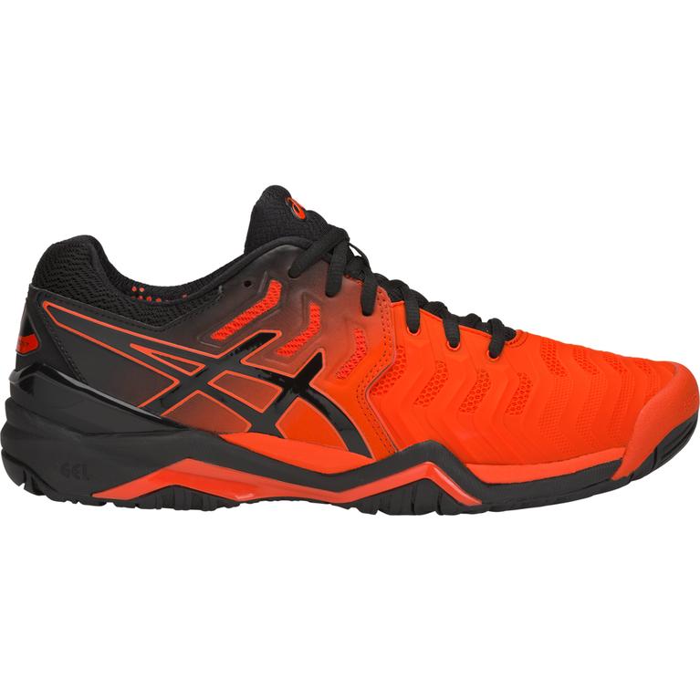 GEL-Resolution 7 Men's Tennis Shoe - Black/Orange