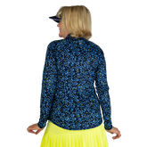 Alternate View 4 of Limonata Collection: Ditsy Print Quarter Zip Pull Over Top