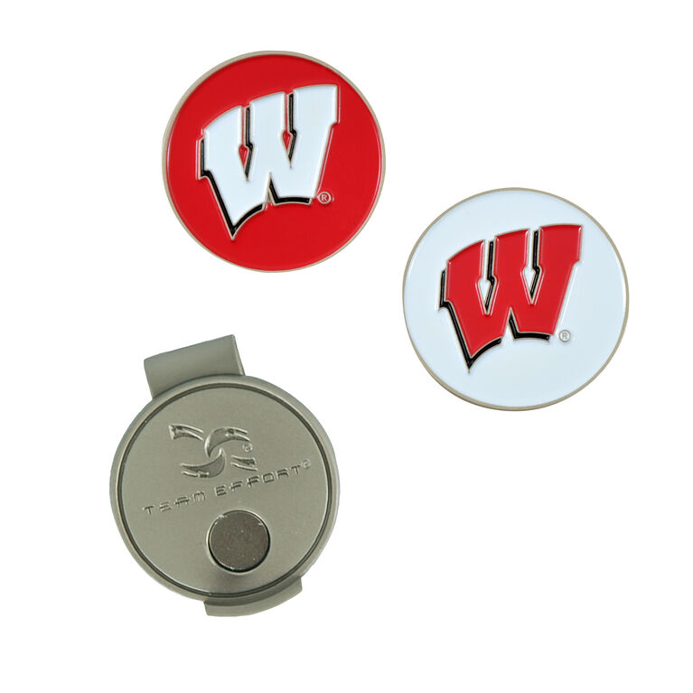 Team Effort Wisconsin Badgers Hat Clip