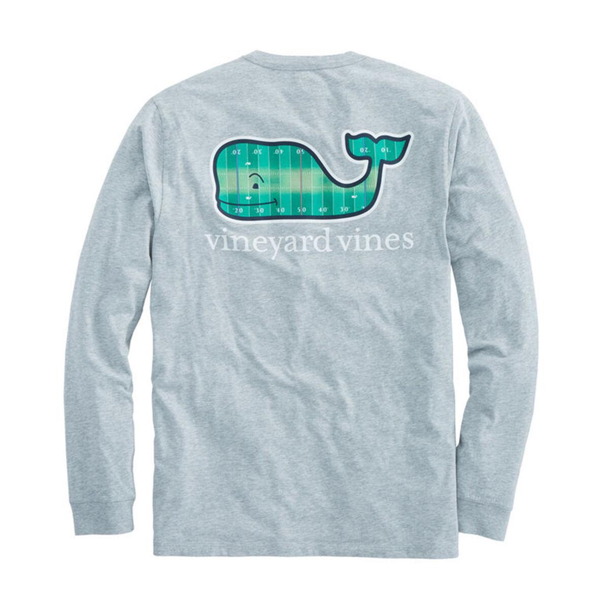 36fdb909e Vineyard Vines Long Sleeve Football Field Whale T-Shirt