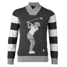 Animal Group: Long Sleeve Golfer Pullover Sweater
