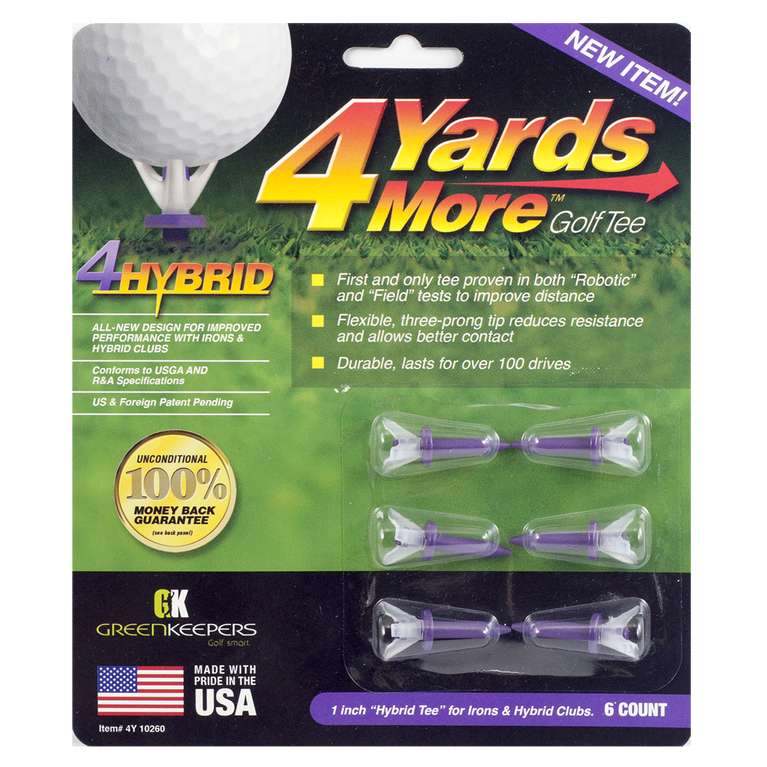 Golf Gifts & Gallery 4 Yards More Hybrid Golf Tees