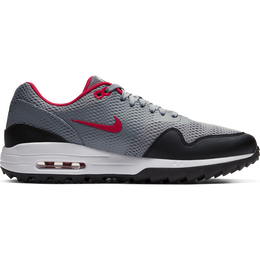 Air Max 1 G Men's Golf Shoe - Grey/Red